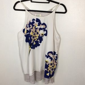 Anthropologie-Porridge Layered Floral Design Tank